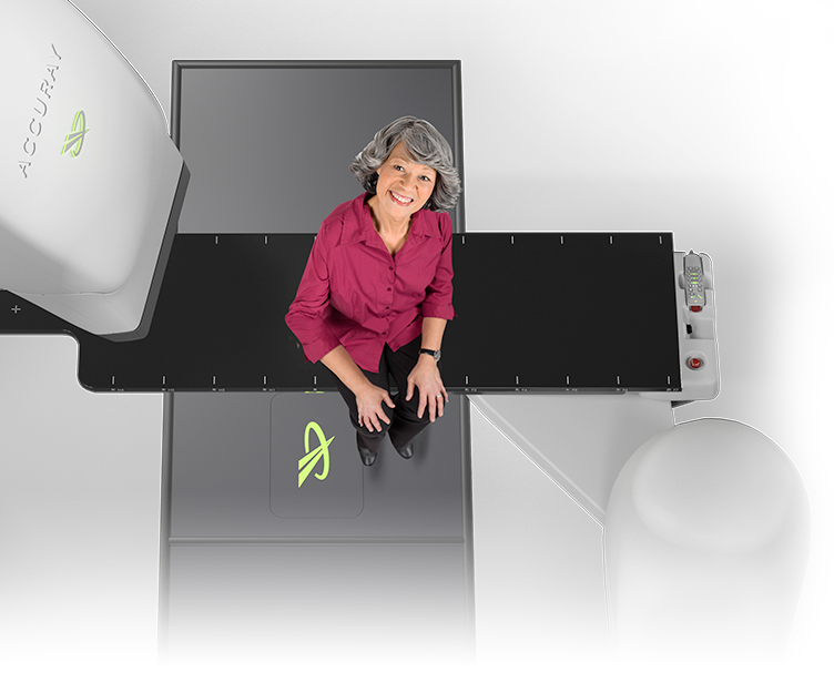 Patient in need of intracranial stereotactic radio surgery (SRS) with the CyberKnife System from Accuray.